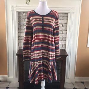 Lauren Jeans Co Long sleeve multi color dress 3X